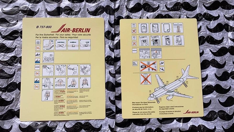 Air Berlin 737-800 safety card