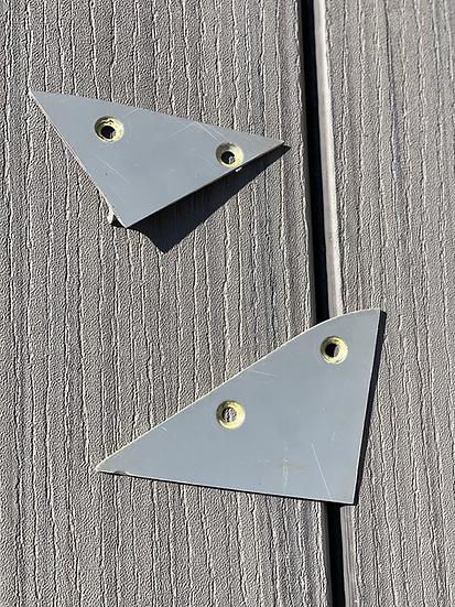 RAF Tornado F3 reg ZE736 body panel triangle cut