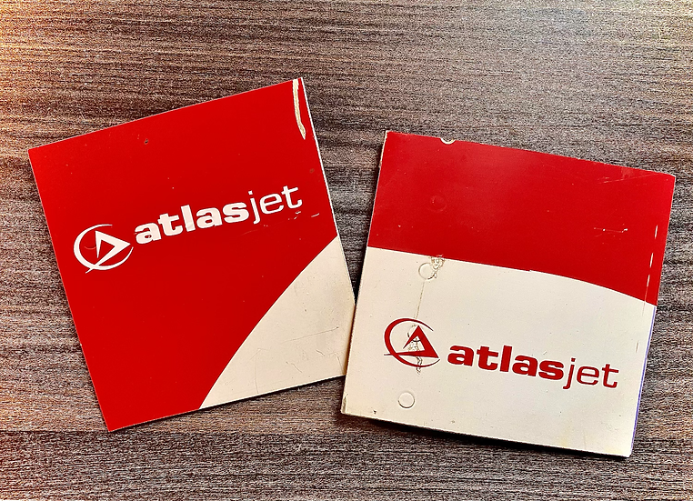 atlasjet  TC-ATJ twin pack pack squares with decals
