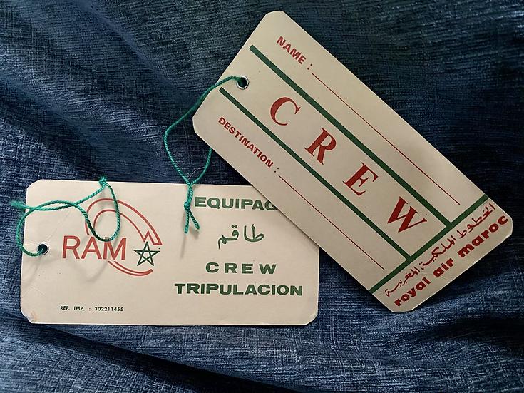 Royal air Maroc  Crew Bag Tag