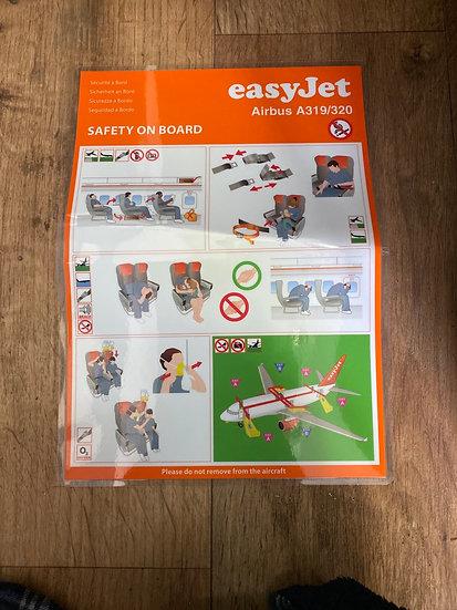 easyJet safety card