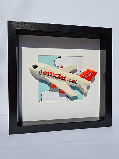 Easyjet retro livery hand made plaster of Paris frame