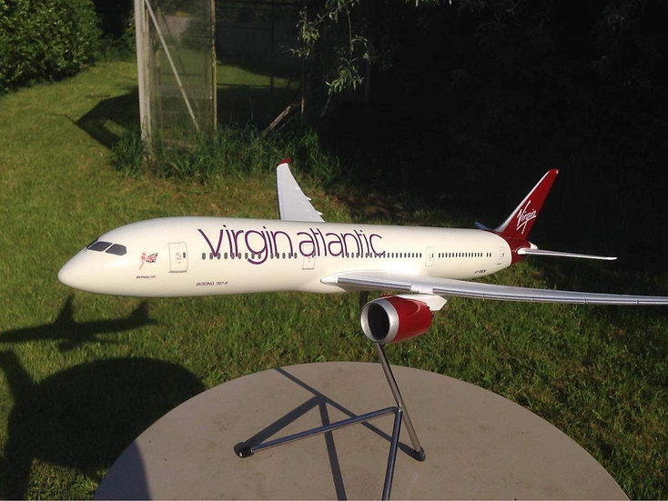 Virgin Atlantic 1:100 resin/fibreglass hand made model