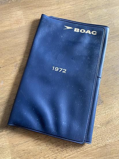 BOAC 1972 passport folder