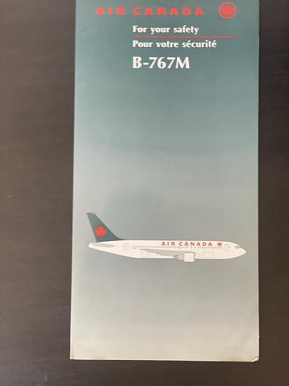 Air Canada B767M safety card
