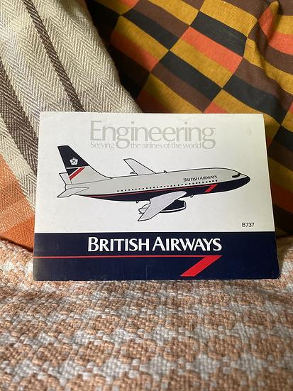 BA Engineering sticker with Landor B737-200