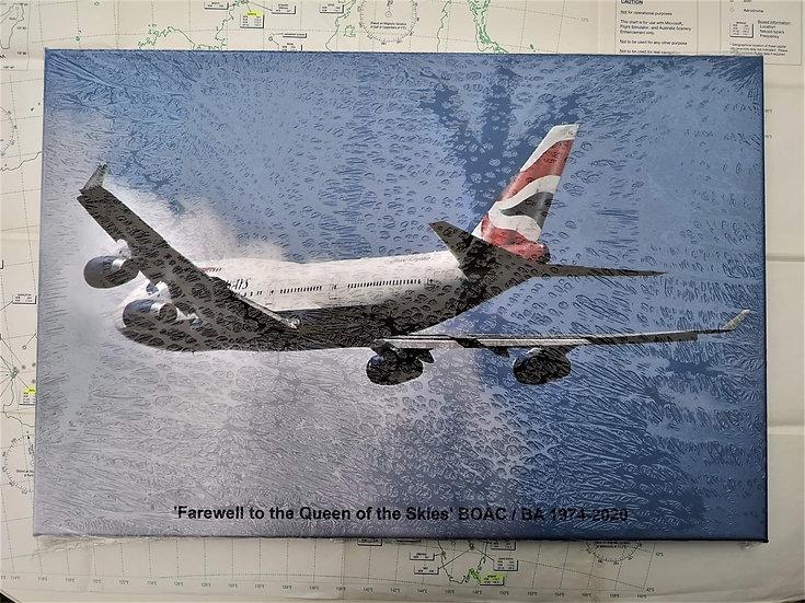 BA 747 tribute canvas 60x40cm