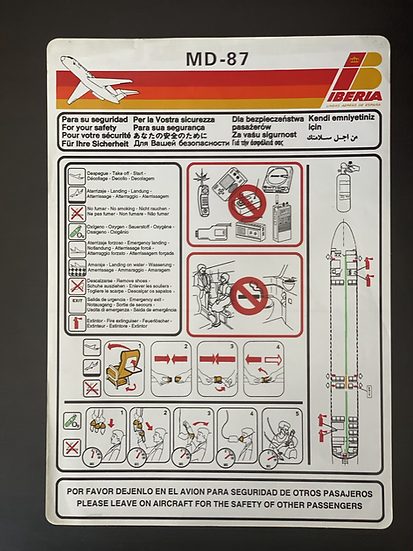 Iberia MD87 safety card