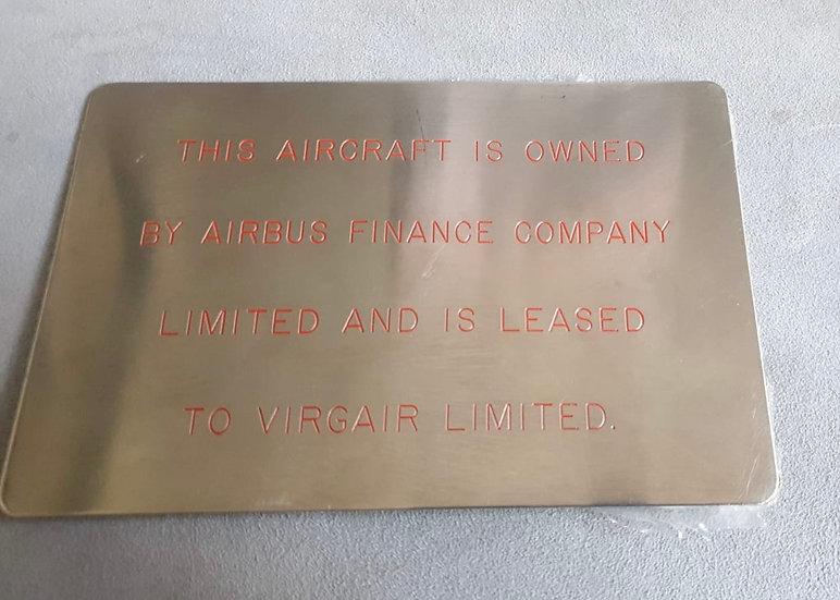 G-VSKY A340 lease plate