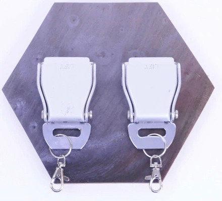 Double hexagonal seat belt buckle rack RESIN
