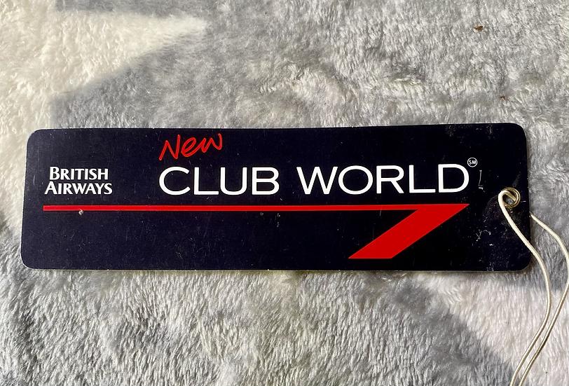 British Airways - New Club World luggage tag