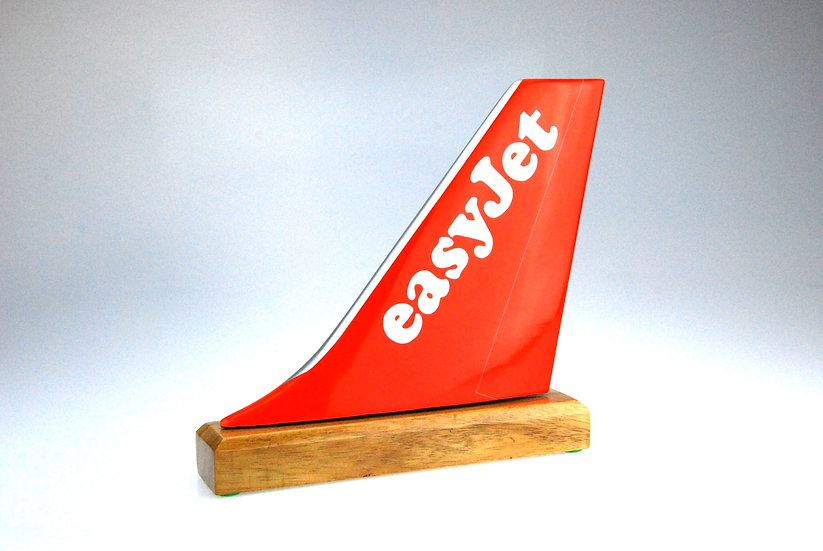 easyjet hand carved and hand painted aircraft tail fin