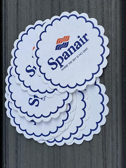 Spanair original paper coaster set