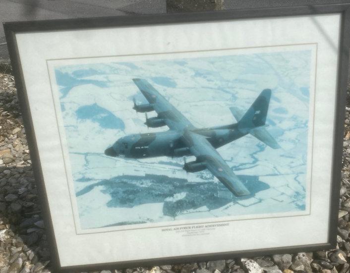 RAF flight achievement frame