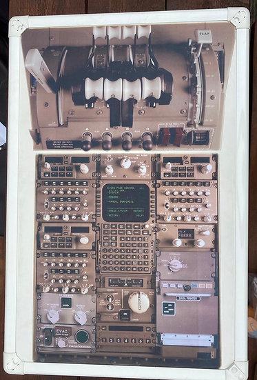 Virgin Atlantic B747 flight deck training board