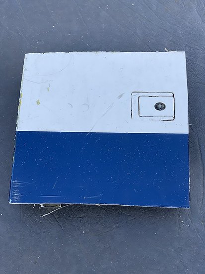 BAe125 CCA Reg ZD704 cowling Skin square with mechanism white and blue