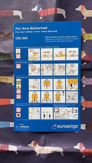 Eurowings CRJ200 safety card