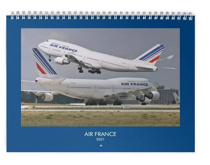 Air France over the years wall calendar