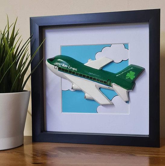 Aer Lingus hand made plaster of Paris retro livery frame