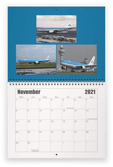 KLM wall calendar