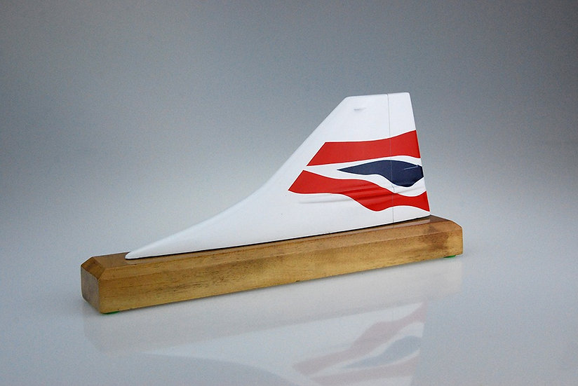 British Airways Concorde Chatham hand carved and hand painted aircraft tail fin