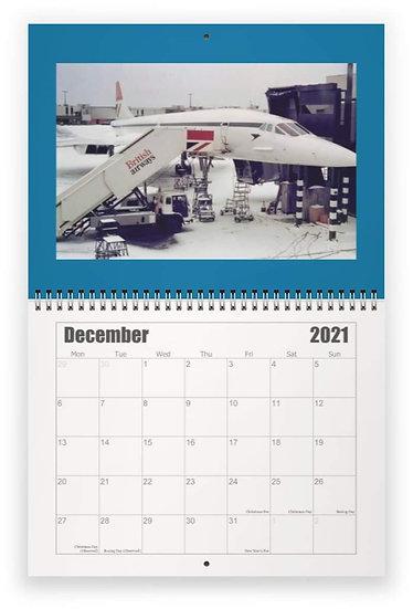 Concorde wall calendar