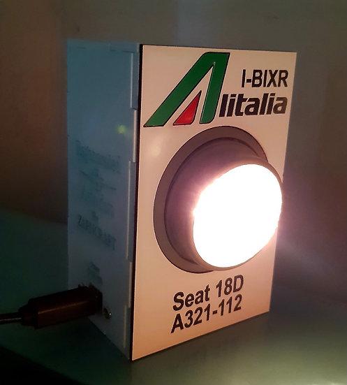 Alitalia A321 hand made original PSU desk/wall light