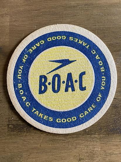 BOAC drinks coaster