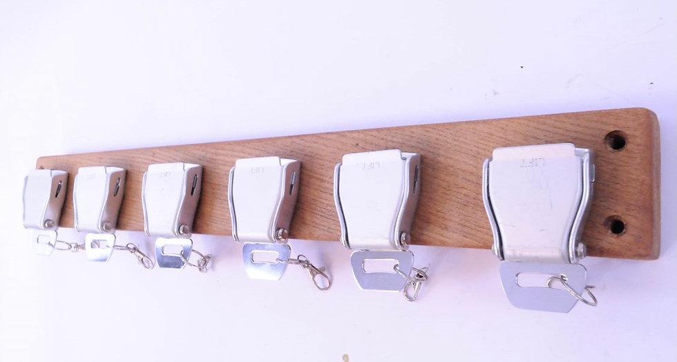 Set of 6 belt buckle rack