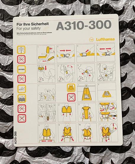 Lufthansa A310 safety card