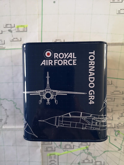 RAF Tornado Fighter New Tin Money Box