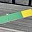 Thumbnail: TCX Rainbow heart G-MDBD off cut green/yellow