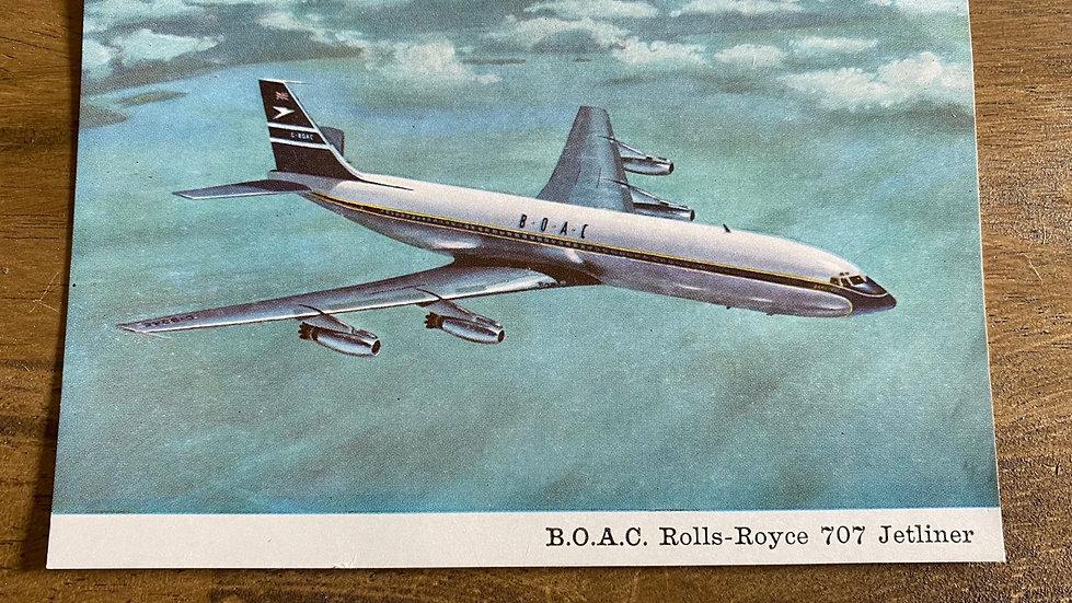 BOAC 707 postcard