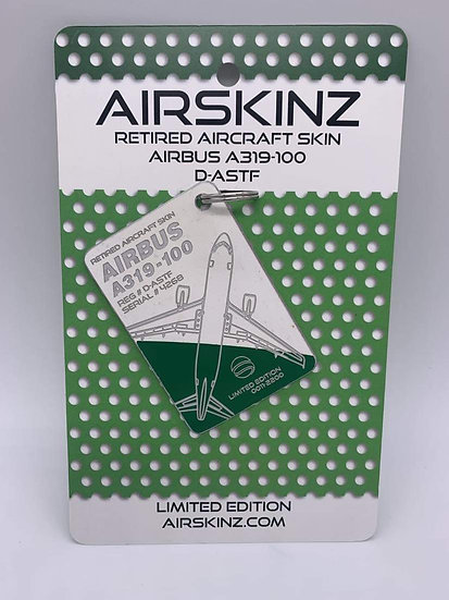 AIRSKINZ Germania tag- WHITE AND GREEN