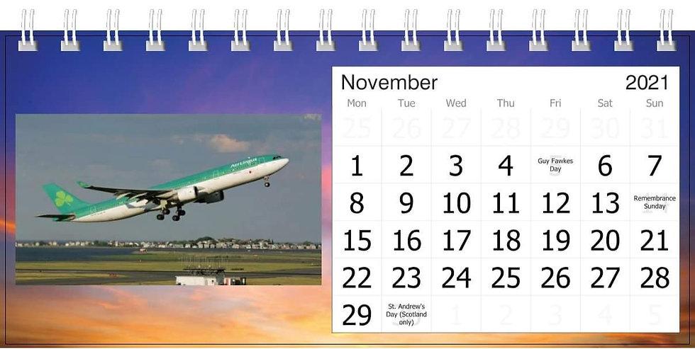 Aer Lingus  desk calendar