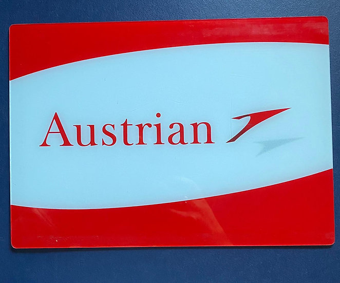 Austrian Perspex sign from Q400 OE-LGC