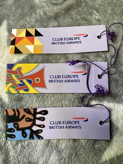 British Airways - Eutopia Club Europe luggage tag each