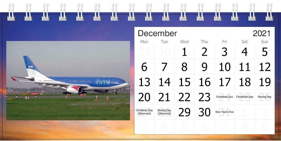 BMI desk calendar