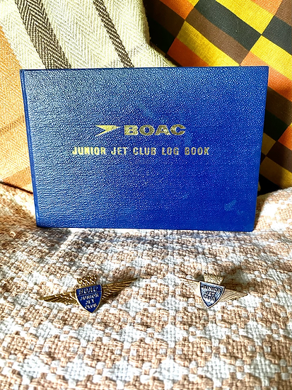 BOAC Junior Jet Club Log Book and Two Wings