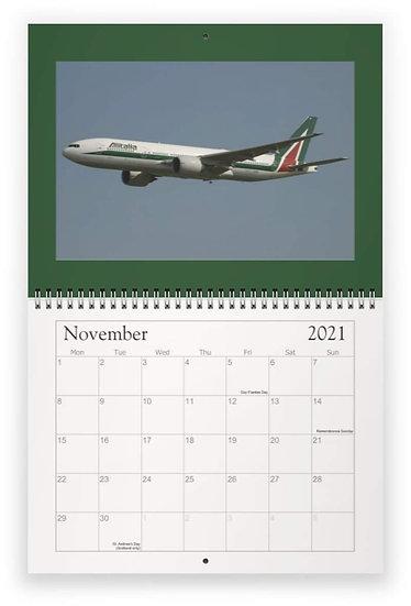 Alitalia over the years wall calendar