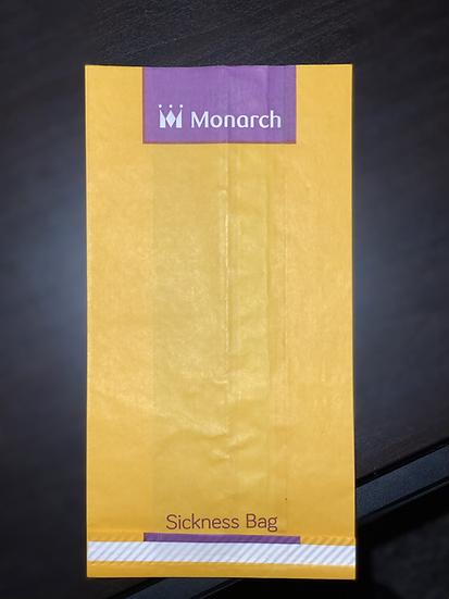 Monarch sick bag