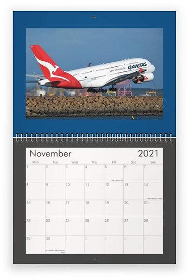 Qantas wall calendar