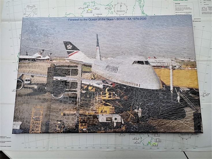 BA Landor 747 tribute canvas 60x40cm