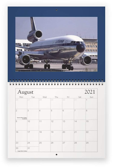 Lufthansa wall calendar