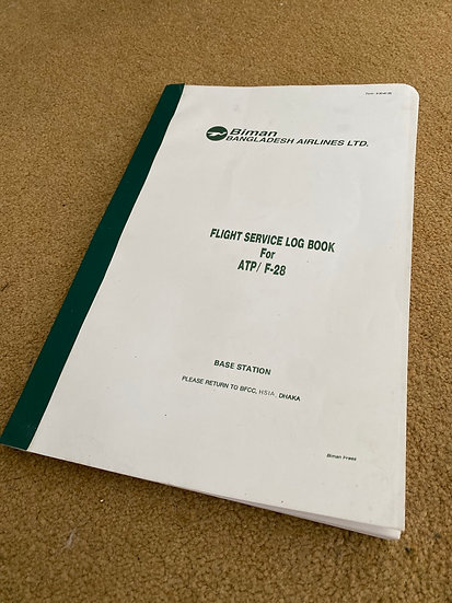 Biman Cabin Crew Purser Flight Log Book unused