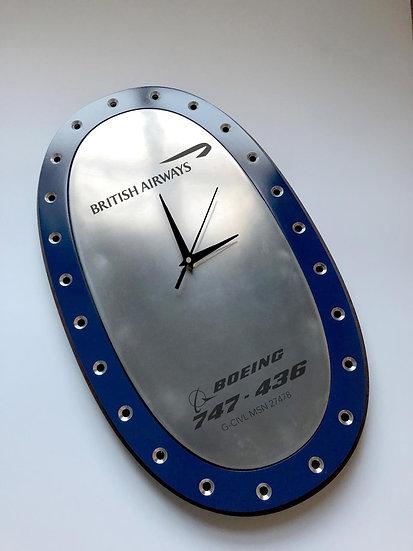 British Airways B747 G-CIVL Fuel panel clock