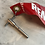 Thumbnail: Boeing 747 steering bypass pin with remove before flight flag