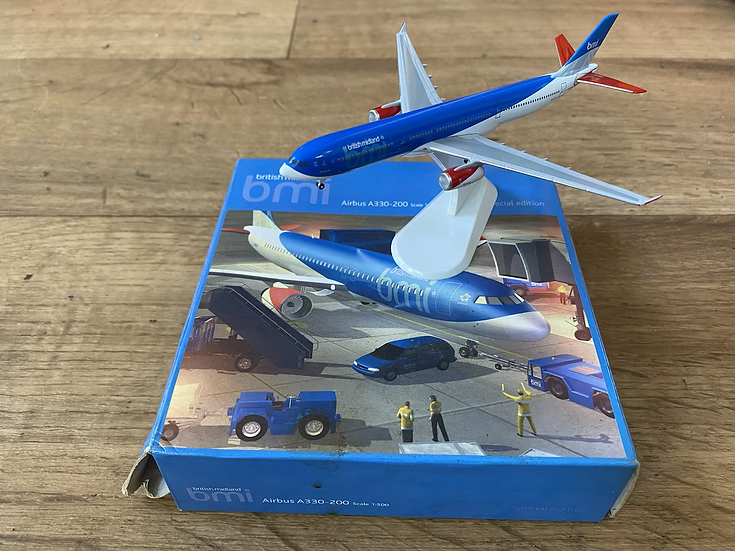 BMI A330-200 1:500 scale model by Starjets