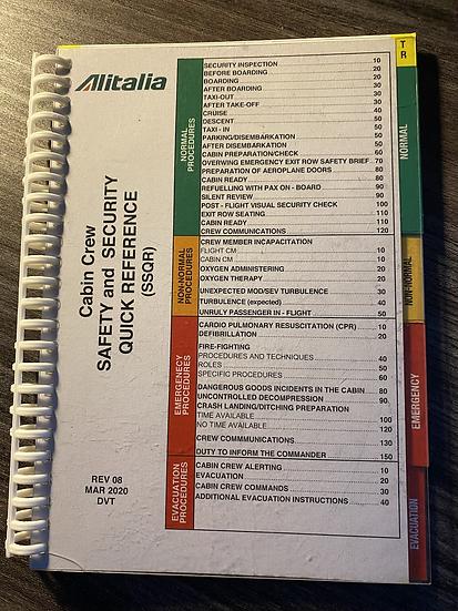 Alitalia on board cabin crew reference manual