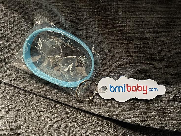 bmibaby wrist band and keyring combo